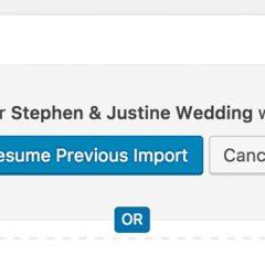 picu Import Addon: Resume previous import