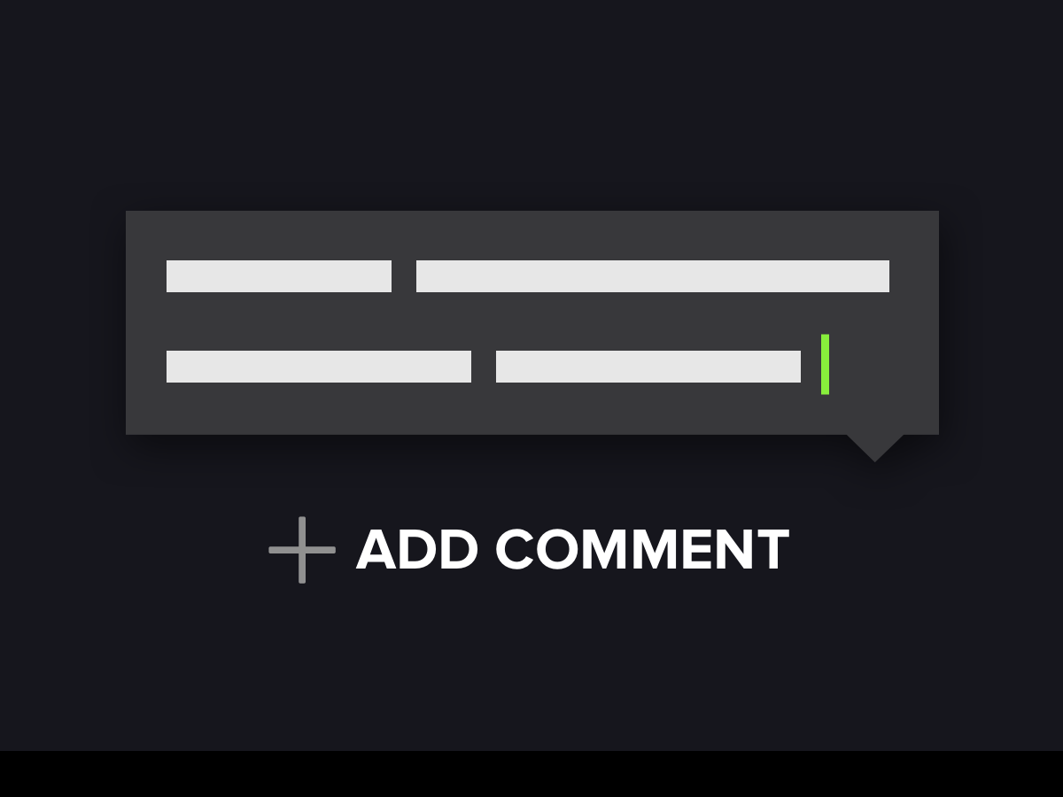 Mark & Comment Icon